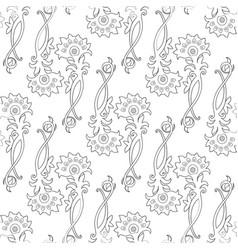 Fantasy floral background vector