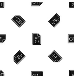 file exe pattern seamless black vector image