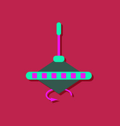 Flat icon design rotating whirligig in sticker vector