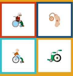 Flat icon handicapped set handicapped man vector