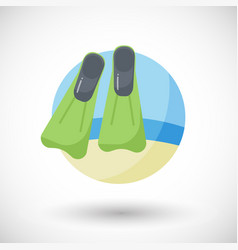 flippers on the beach flat icon vector image