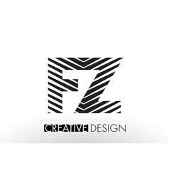 fz f z lines letter design with creative elegant vector image