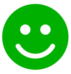 Glad smile flat icon vector