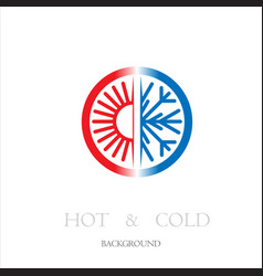 hot and cold circle background vector image