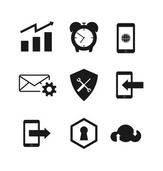 icon set collection design vector image