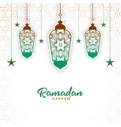 Islamic decorative lamp ramadan kareem background vector