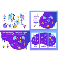 Isometric concept tourists choose direction relax vector
