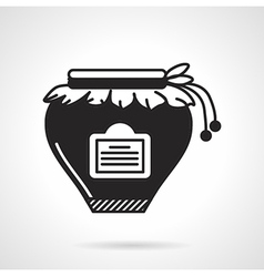 Jam jar black icon vector
