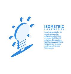 light bulb idea icon isometric flat 3d vector image
