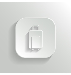 Luggage icon - white app button vector image