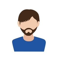 Man guy boy person beard face head icon vector