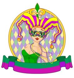 Mardi Gras Harlequin Design vector image