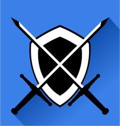 medieval shield vector image