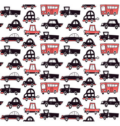 Monochrome cars vector