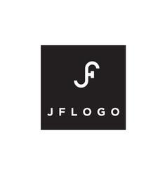 monogram initial jf fj logo design inspiration vector image