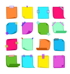 Note papers collection vector