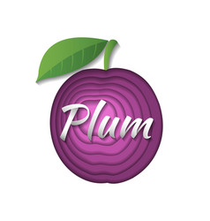 paper art plum vector image