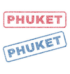 phuket textile stamps vector image