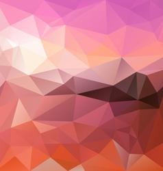 Pink sunrise polygon triangular pattern background vector