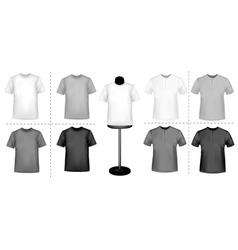Polo shirts with mannequins vector