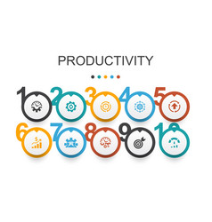 Productivity infographic design template vector