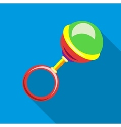 Rattle icon flat style vector image
