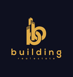 Real estate building logo - house building vector