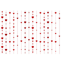 red abstract hearts on white background vector image
