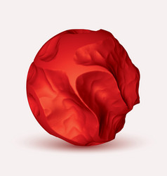 Red eroded 3d sphere abstract vector