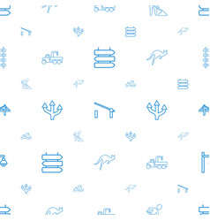 road icons pattern seamless white background vector image