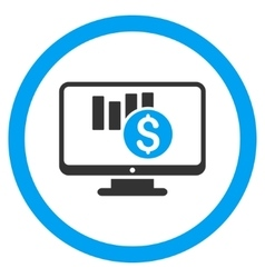 Sales Chart Monitoring Rounded Icon vector image