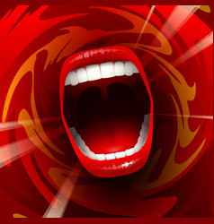 Screaming singing mouth vector