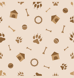 seamless pattern animals dog theme vector image