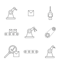 Set of linear icons vector