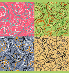 set of patterns with bright stripes vector image