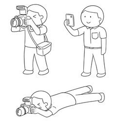 set of photographers vector image