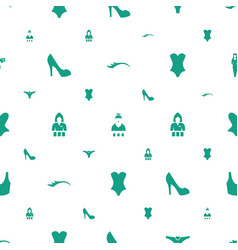 Sexy icons pattern seamless white background vector
