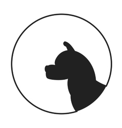 Silhouette of a dog head akita vector