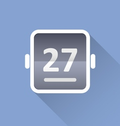Simple tear-off calendar icon vector