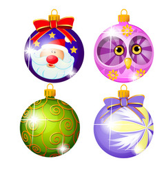 sketch with christmas tree decorations different vector image