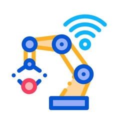 smart robot icon outline vector image