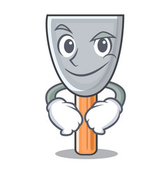 Smirking character putty knife isolated vector