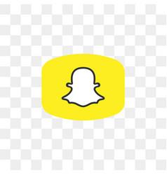 snapchat social media icon design template vector image