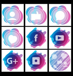 Social media network background with circles and vector