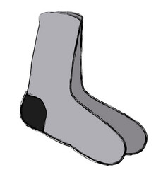 socks icon isolate vector image