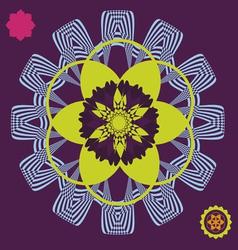 spring meditation floral poster vector image