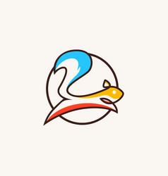 Squirrel logo colorful line art outline icon vector