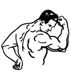 Strong arm flex vector