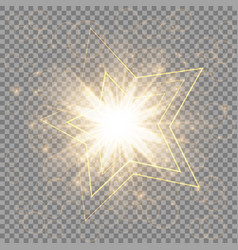 the golden christmas star vector image