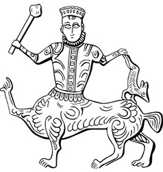 Vintage king centaur vector